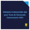 Premio Fundación IBR para Tesis Doctorales