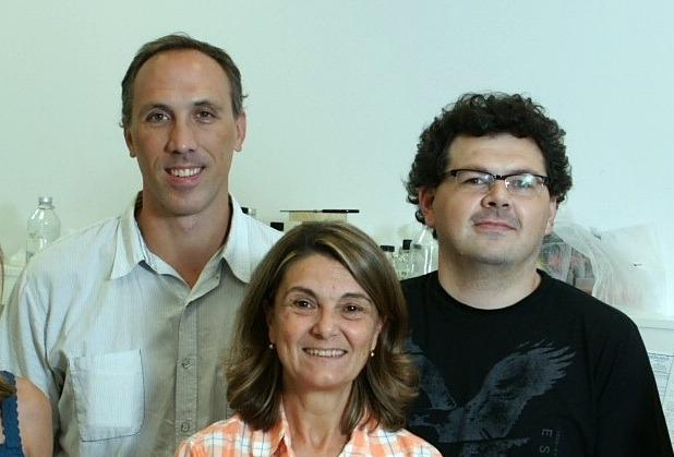 Pablo Armas, Nora Calcaterra y Ezequiel Margarit, autores del trabajo.