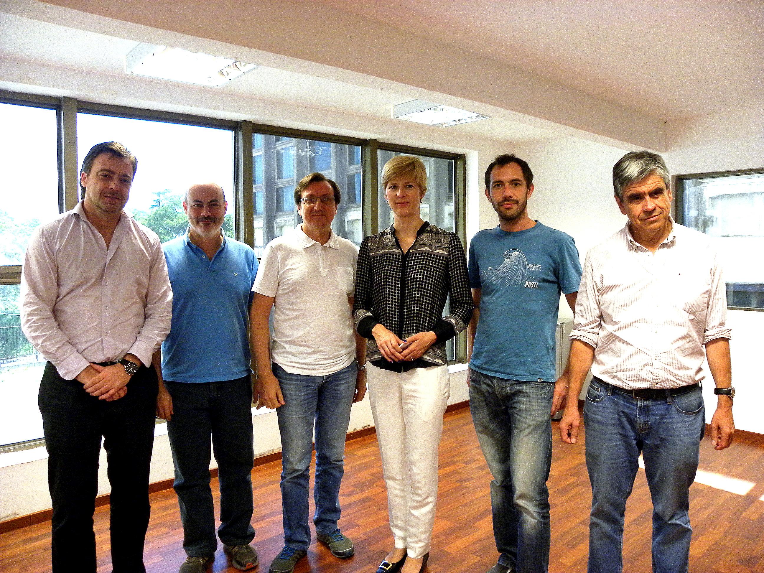 Investigadores del IBR y CCT junto a Kathrin Megerle, encargada de Asuntos Científicos y Universitarios de la Embajada de Alemania